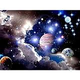 Riou DIY 5D Diamant Painting voll,Stickerei Malerei Diamant Universum Planet Raum Bild Muster Crystal Strass Stickerei Bilder Kunst Handwerk für Home Wall Decor gemälde Kreuzstich (Mehrfarbig e, 30*40CM)