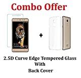 #2: M.G.R.J [ Coolpad Note 5 ] Transparent Back Cover + Ballistic Tempered Glass Screen Protector - Maximum Impact Protection - 99.9% Crystal Clear HD Glass - No Bubbles