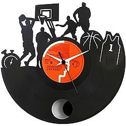 Un reloj que no puede faltar en el cuarto de un jugador de baloncesto, regalo especial, reloj de vinilo negro, Vinyluse original