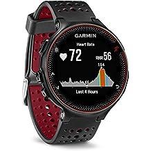 Garmin Forerunner 235 Schwarz und Marsala-Rot - GPS-Laufuhr mit Herzfrequenzmessung am Handgelenk, 010-03717-71 (Zertifiziert und Generalüberholt)
