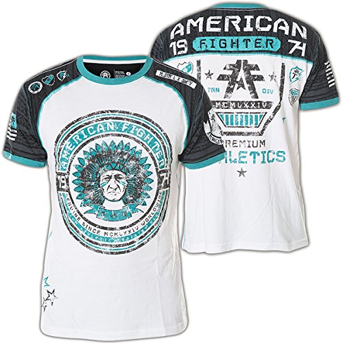 American Fighter by Affliction T-Shirt Saginaw Valley Weiß/Schwarz Blau