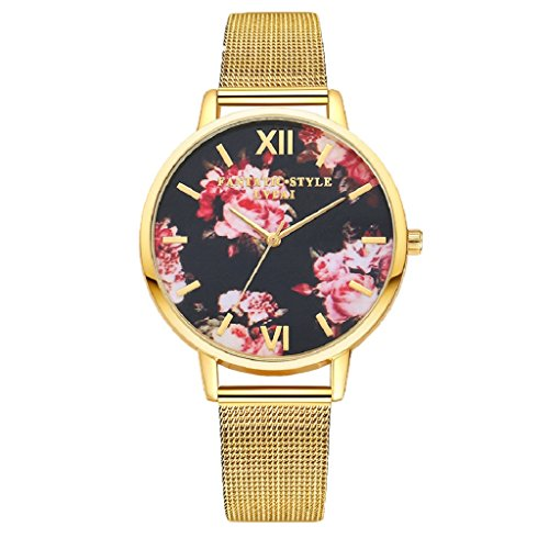 overdose-women-stainless-steel-band-floral-quartz-wrist-watch