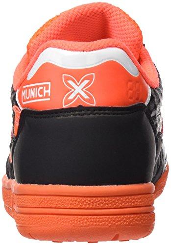 Munich Unisex-Kinder G3.5 X-Feel Futsalschuhe Schwarz (Schwarz / Orange)