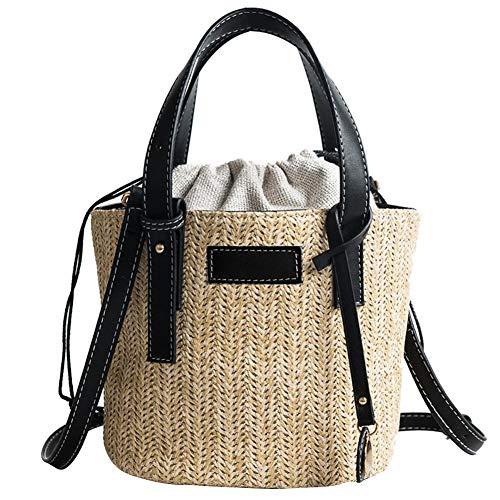 KEIBODETRD Sommer Strand Stroh Tote Einfache Tragbare Schulter Kleine Umhängetasche Out Fashion Bag für Frauen -