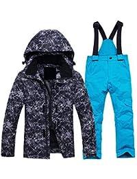 Keamallltd Invierno Traje de Esquí Adolescente Chaqueta y Pantalones  Transpirables A Prueba de Viento para Niños 51214efd1e3