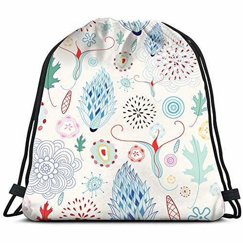 vintage cap Graphic floral patternnature Special Backpack Sack Bag Gym Bag for Men & Women 17X14 Inch -