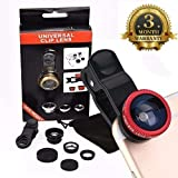 #5: Decors Eye™ Universal 3 In 1 Cell Phone Camera Lens Kit -Fish Eye Lens/ 2 In 1 Macro Lens & Wide Angle Lens/ Universal Clip Compatible With All Android And IOS Devices Compatible with Xiaomi, Lenovo, Apple, Samsung, Sony, Oppo, Gionee, Vivo Smartphones (3 Months Warranty) (Colour May Vary)
