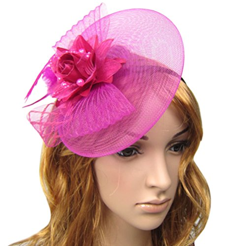 cofashion-ladys-women-party-wedding-rose-feather-hair-fascinator-tilt-cocktail-hat-pillbox-hat-plum