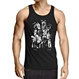 CottonCloud Anime Heroes Herren Tank Top One Superhelden Goku Luffy Saitama Piece, Größe:L