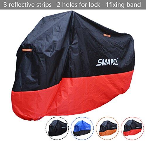SMARCY® Housse de Protection pour Moto Rouge et Noir XXL