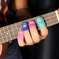 NiceButy4 in 1 Gitarre Fingertip Protectors Silikon Fingerschutz für Ukulele preisvergleich bei billige-tabletten.eu