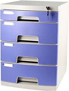 with Lock High Capacity Can Store A4 Files Office Supplies File cabinet Flat Flat File Cabinet Flat File Desktop Storage Box Furniture Archive Cabinet 5 Drawers Color : 2