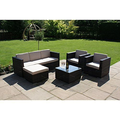 San Diego Dallas Baby Rattan Garden Furniture Brown Georgia Sofa Set Garden Rattan Furniture