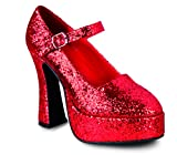 Boland 46053–Chaussures Disco, Taille 39, Glitter Rouge