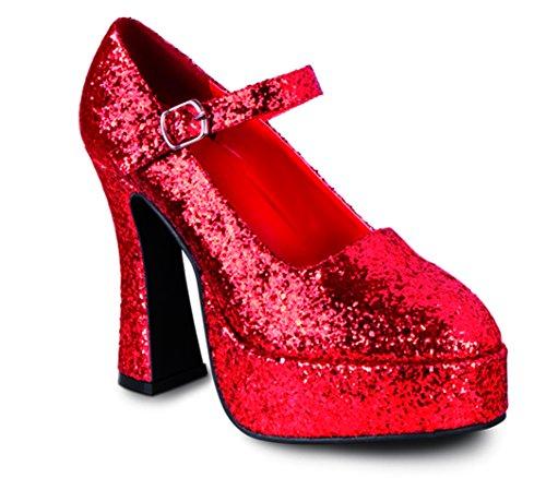 Boland 46052 - Schuhe Disco Glitter rot, Größe 38