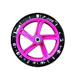 authentic sports & toys GmbH Aluminium Scooter Muuwmi 205 mm, schwarz/pink -