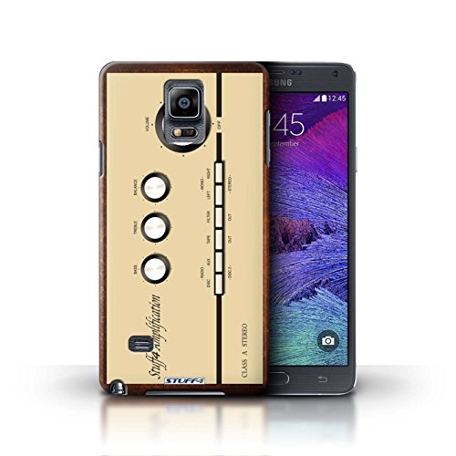 Kobalt® Imprimé Etui / Coque pour Samsung Galaxy Note 4 / Boombox conception / Série Retro Tech Amp/Amplificateur