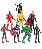 Vibgyor Vibes Super Hero Twist and Move Action Figure,Pack of 8