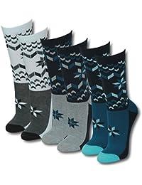 Lavazio® 12 | 24 | 36 | 48 Paar Damen Teenager Socken Strümpfe Motiv Stern verschiedenen Farben