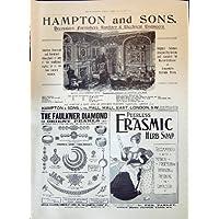 Una Stampa Antica della Perla 1897 del Diamante di Faulkner dei Decoratori di Hampton della