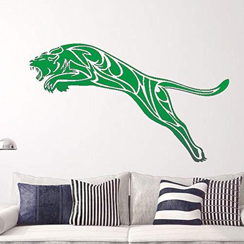 zqyjhkou Brave Attack On The Leopard Art Adesivi murali creativi Decorazioni per la casa Murale Adesivo 6 58X98cm