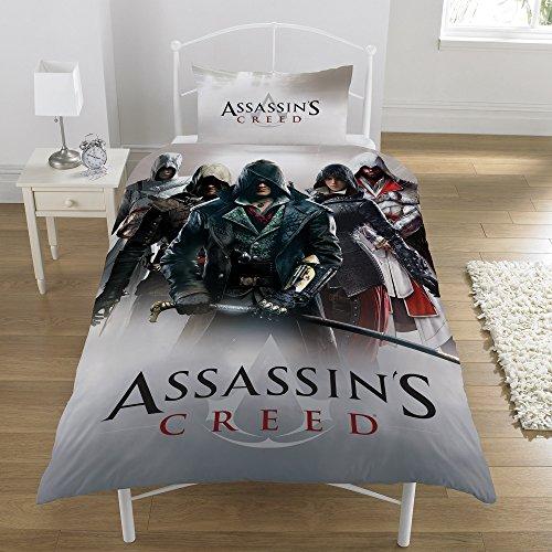 Assassins Creed 'Eroi Montage' Set copripiumino singolo, multicolore
