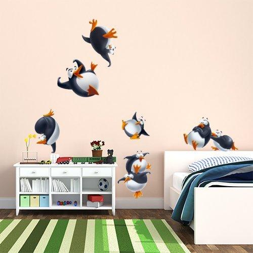 Preisvergleich Produktbild wall art R00261 Wandaufkleber für Kinder Pinguine 2, wallpaper, mehrfarbig, 30 x 120 x cm