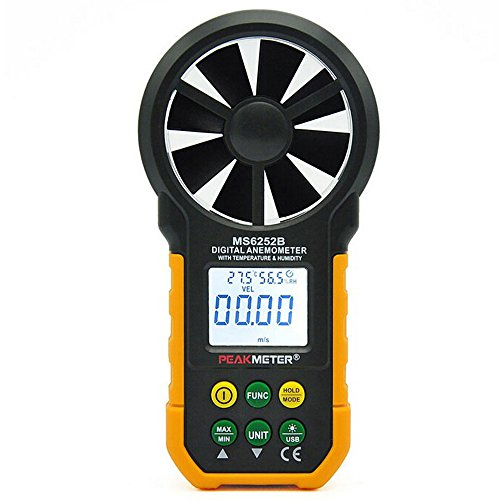 Generic Peakmeter MS6252B Digitale Anemometer W/Luftfeuchtigkeit & Temperatur Test