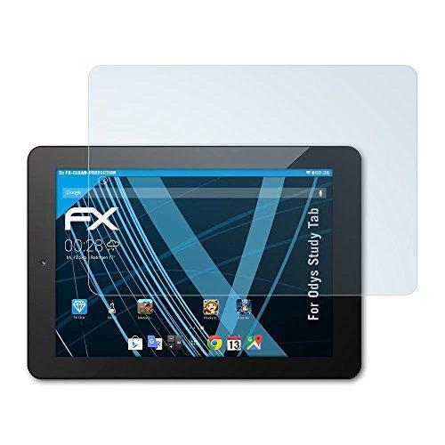 atFolix Schutzfolie kompatibel mit Odys Study Tab Folie, ultraklare FX Bildschirmschutzfolie (2X)