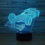 Cena Lámpara de mesa Ferrari 7 colores que cambia la lámpara de escritorio Lámpara 3d La novedad llevó las luces de la noche Luz led
