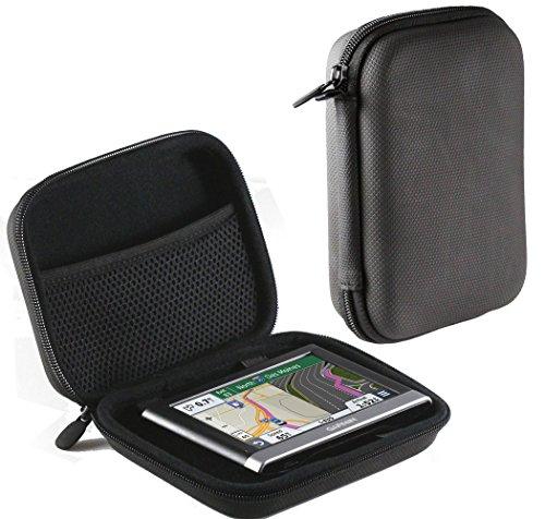 Navitech GPS Gummi Schwarz Hard Case für Blaupunkt TravelPilot 53 / Lowrance Elite-5 / Medion GoPal E5470 EU (Gps Lowrance-5)