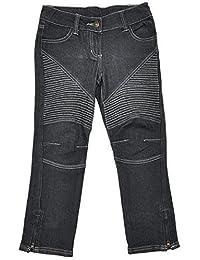 Filles noir fadé Combat Style Cheville Fermeture Éclair Jeans Mode tailles de 3 à 10 An