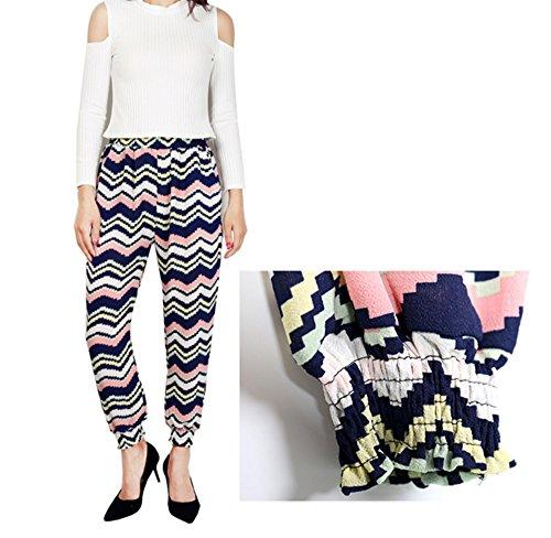 PANTALONE Harem, Animal Print Full Length & 3/4 Ali Baba Harem Pants Plus Size Motivo a onde