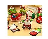 5X witzige Schlüsselanhänger Weihnachtsmann Schneemann - viele Motive und Farben