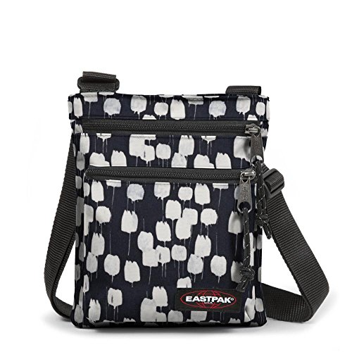Eastpak Rusher Borsa Messenger, 2 Litri, Blu (Silent Blue) Nero (Flow Black)