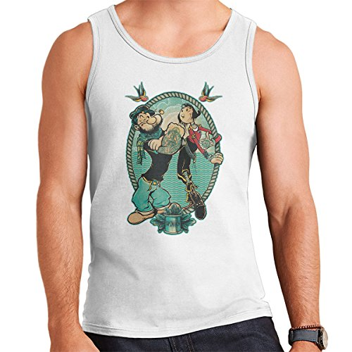 Popeye Me And My Lady Men's Vest White