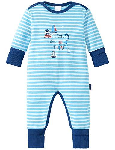 Schiesser Baby-Jungen Zweiteiliger Schlafanzug Maritim Anzug mit Vario, Blau (Hellblau 805), 86