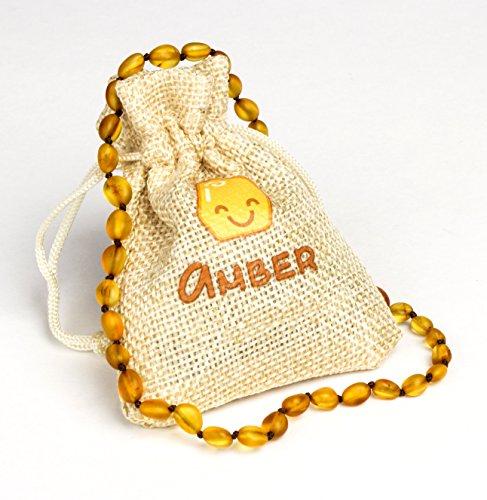 Collana in ambra baltica | Dimensioni 31–33cm | 100% naturale e fatto a mano in ambra perline gioielli | Lab testato e certificato di certificato Inst. | Honey