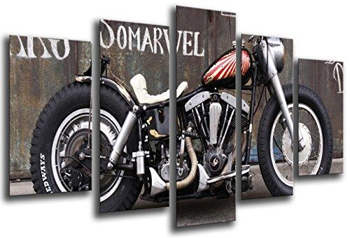 cuadros-camara-26552-tableau-moderne-motif-harley-davidson-vintage-165-x-62-cm