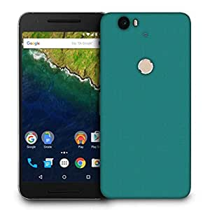 Snoogg Pixel Art Turquoise Printed Protective Phone Back Case Cover For LG Google Nexus 6P