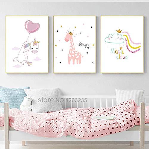 Unicornio globo niña niña decoración habitación
