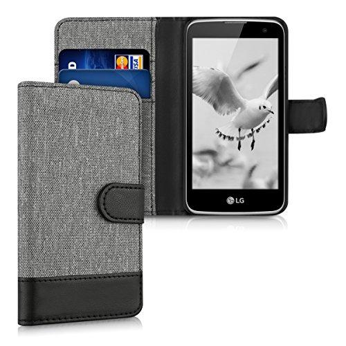 kwmobile LG K4 LTE (2016) Hülle - Kunstleder Wallet Case für LG K4 LTE (2016) mit Kartenfächern & Stand