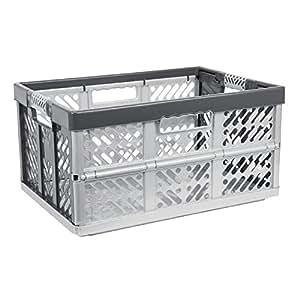 okt caisse en plastique pliable et solide poign es en caoutchouc jusqu 39 50 kg 45 l. Black Bedroom Furniture Sets. Home Design Ideas
