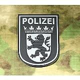Jackets To Go JTG Ärmelabzeichen Polizei Hessen, blackops/3D Rubber Patch