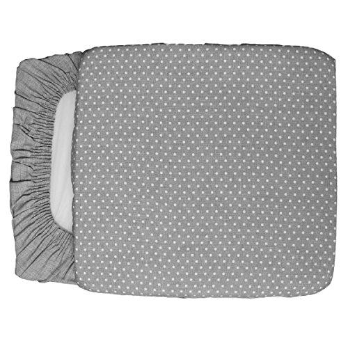 Russo tessuti 6 cuscini coprisedia pois imbottiti con elastico beige grigio 40x40 cm-grigio