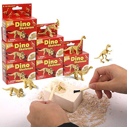 Dr. Daz Ausgrabungsset Dinosaurier Skelett Spielzeug T-Rex Brachiosaurus Parasaurolophus Stegosaurus Triceratops Diplodocus Dino Party