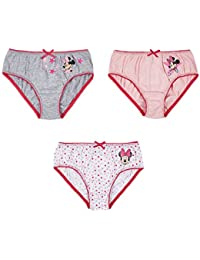 Disney Minnie Chicas Slips (lote de 3) - Rosa