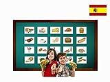Yo-Yee Flashcards Tarjetas con ilustraciones en español - Alimentos y bebidas - para clases de idiomas y fomento del aprendizaje del idioma en guarderías, escuelas infantiles y colegios