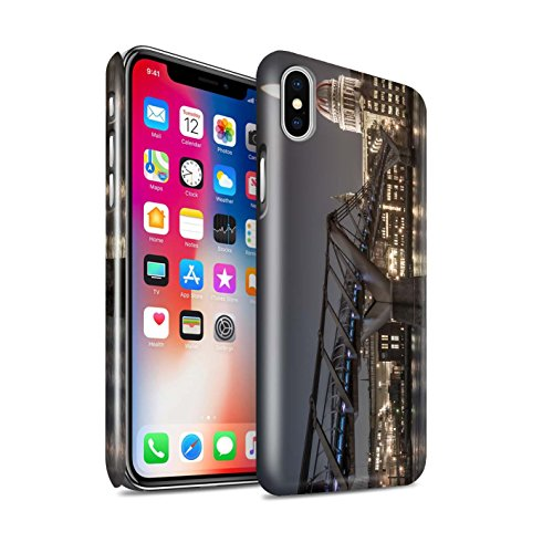 STUFF4 Glanz Snap-On Hülle / Case für Apple iPhone X/10 / Ersten Gang Muster / Vorstellen Kollektion Londons Brenn