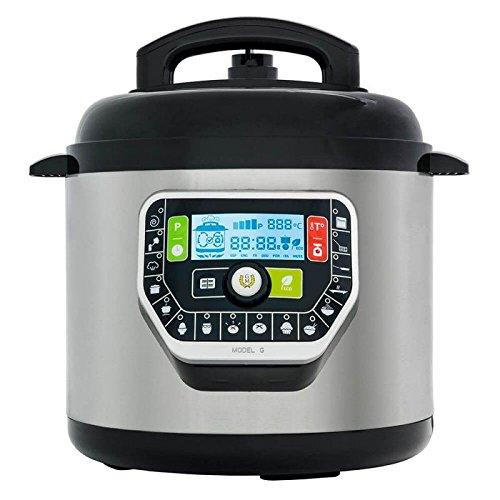 GM Modelo G de LUXE - Robot de Cocina olla progamable Electrica a Presion, 6 Litros, 19 Modos de Cocinar